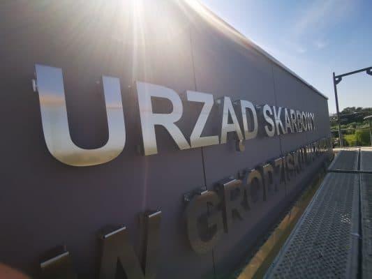 Elewacja budynku Urzędu Skarbowego w Grodzisku Mazowieckim